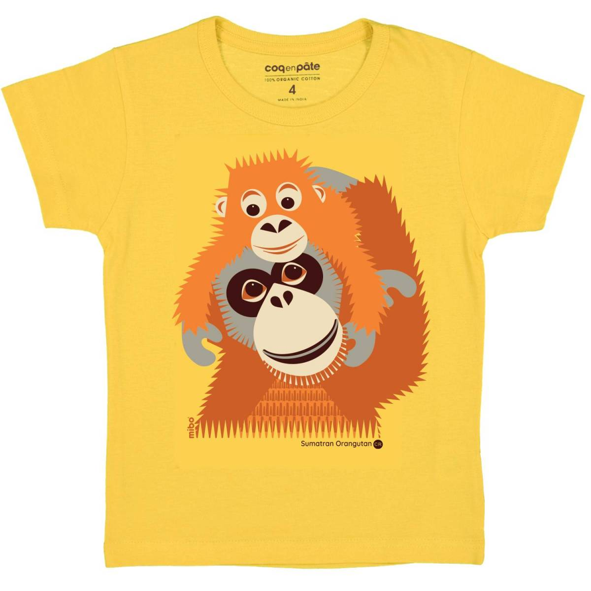 8b81fde5b Orangutan kids' t-shirt in organic cotton - Coq en Pâte
