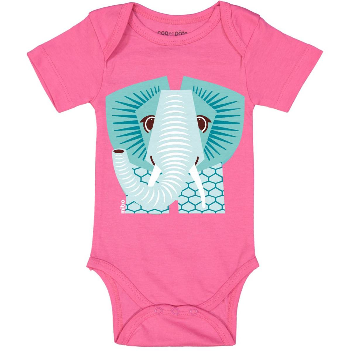 Pink elephant short sleeved body