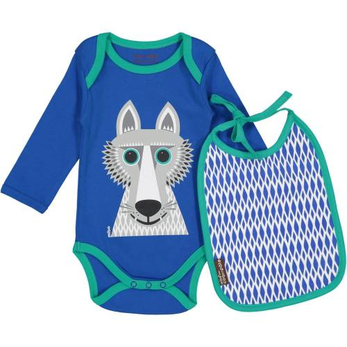 Wolf long sleeves body and bib set