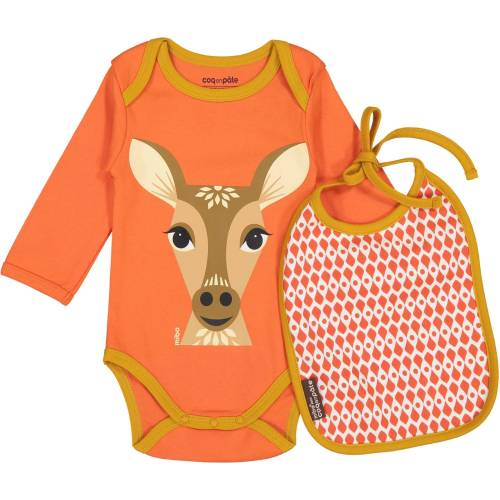 Deer long sleeves body and bib set