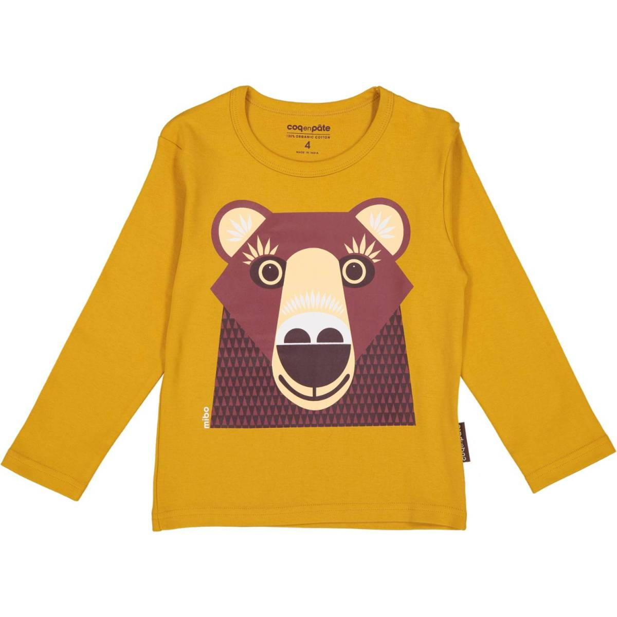 Brown bear long sleeves t-shirt
