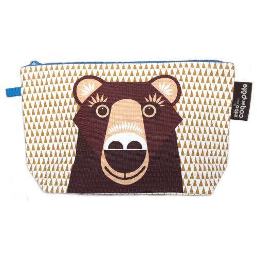 Brown bear pencil case