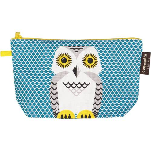 Snowy owl pencil case