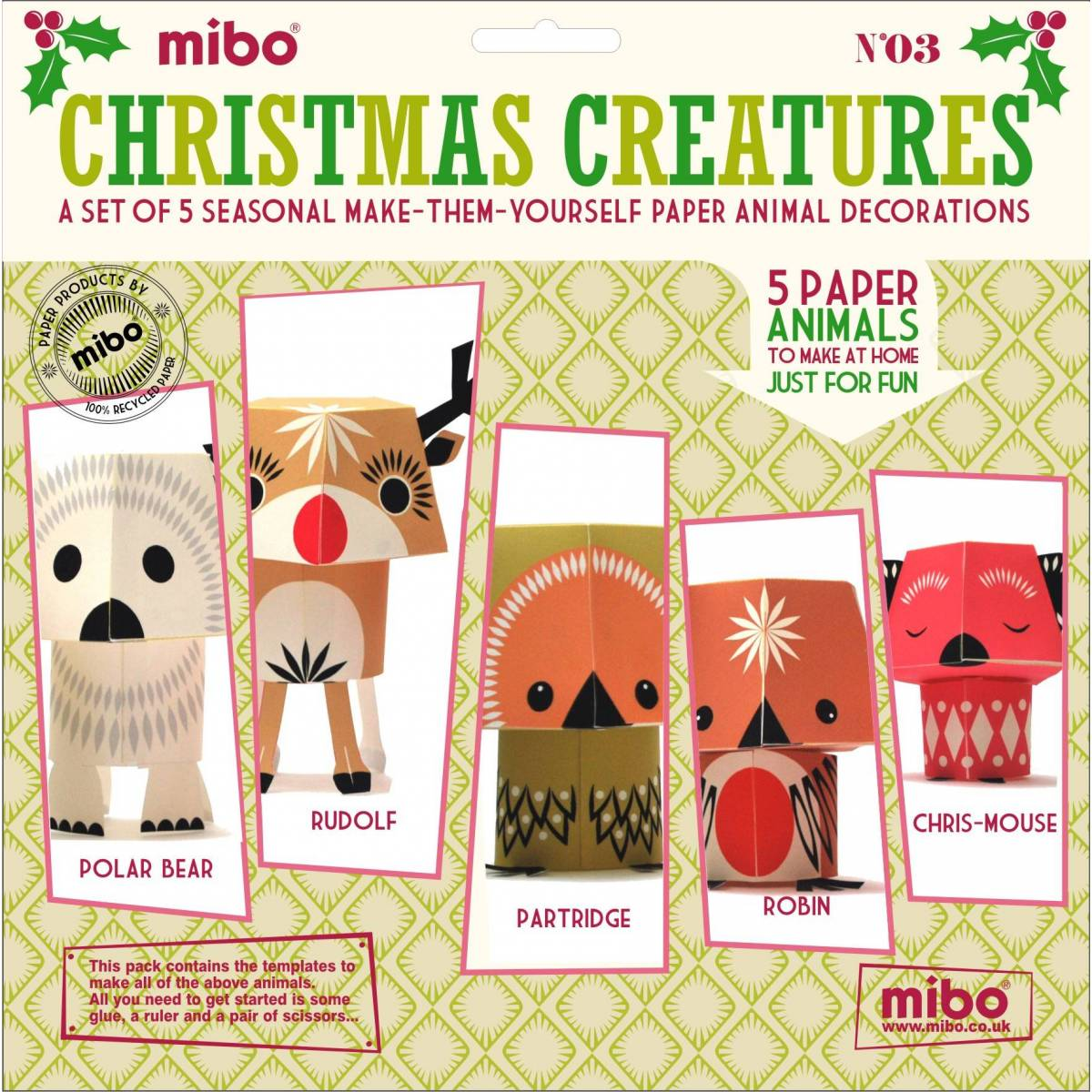 Paper Toys - Christmas Creatures