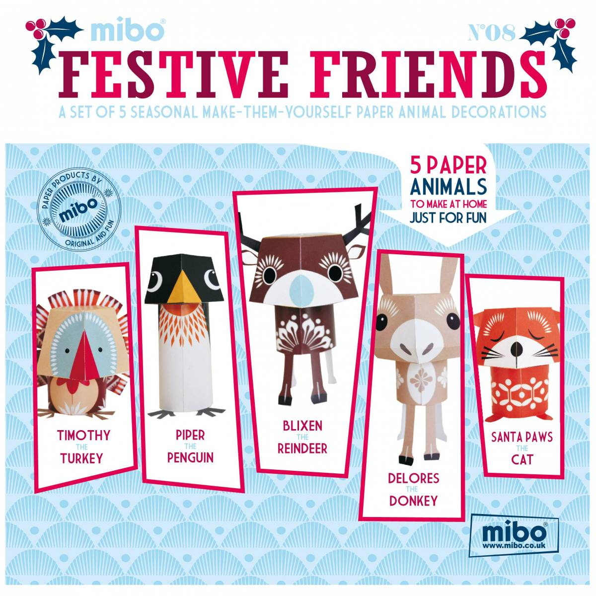 Paper Animals – Festive Friends
