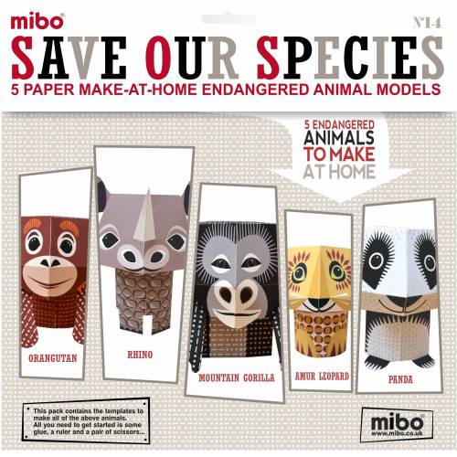 Paper Toys - Save Our Species