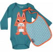 Squirrel bodysuit and bib set