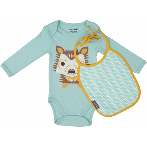 Hedgehog bodysuit and bib set