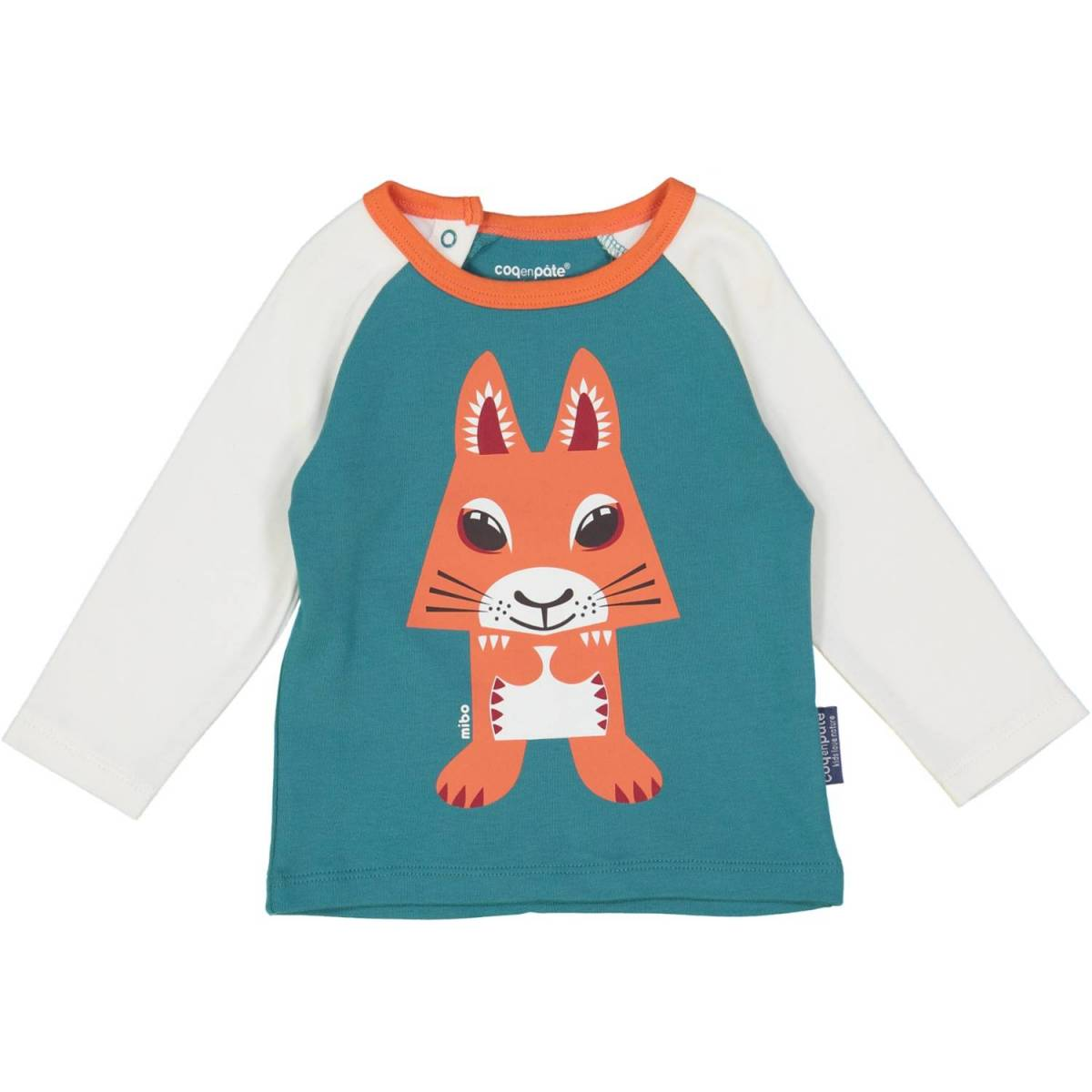 Squirrel raglan t-shirt