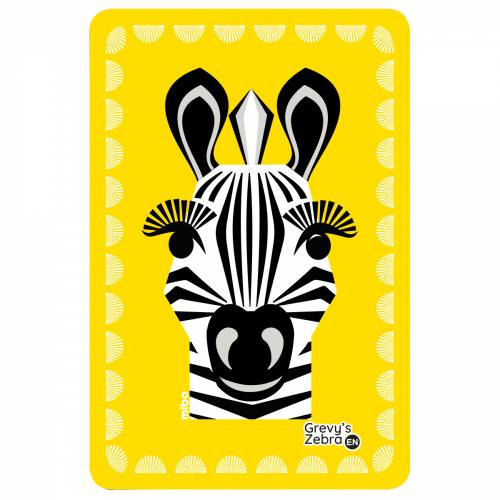 Zebra birthcard