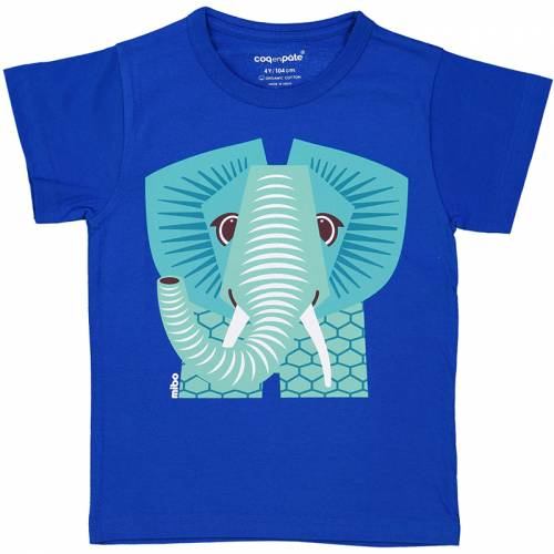 Blue elefant 1 year baby t-shirt
