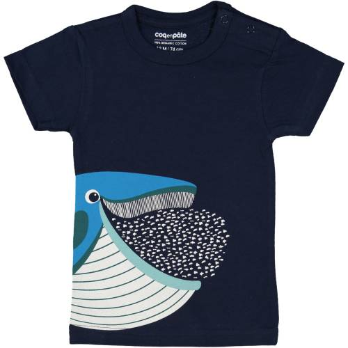 Whale 1 year baby t-shirt