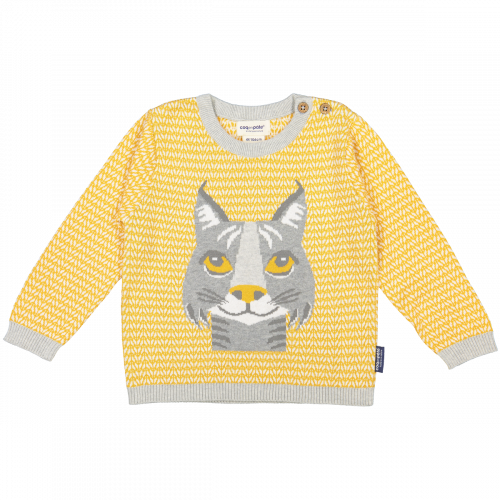 Lynx knitted jumper