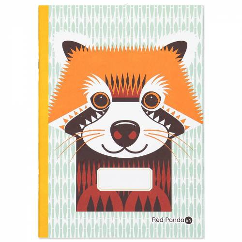 Red panda A5 notebook