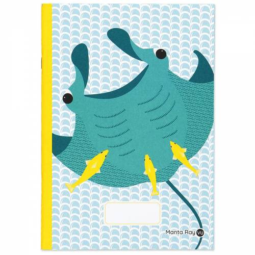 Manta ray A5 notebook