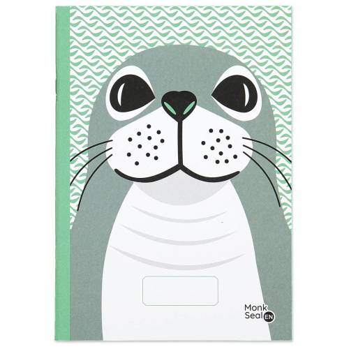 Monk seal A5 notebook