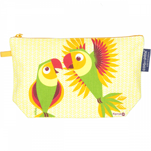 Trousse crayons Perruche