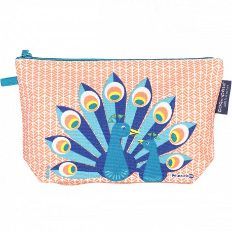Trousse crayons Paon