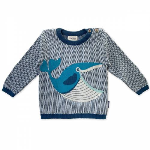 Whale knitted baby jumper