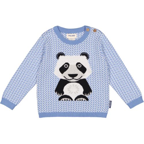Giant panda knitted baby jumper