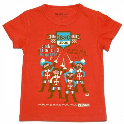 The Three Musketeers red t-shirt
