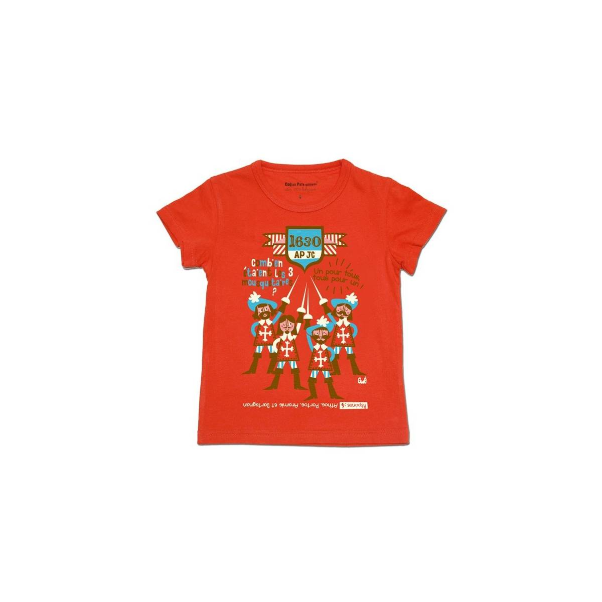 T-shirt mousquetaires rouge
