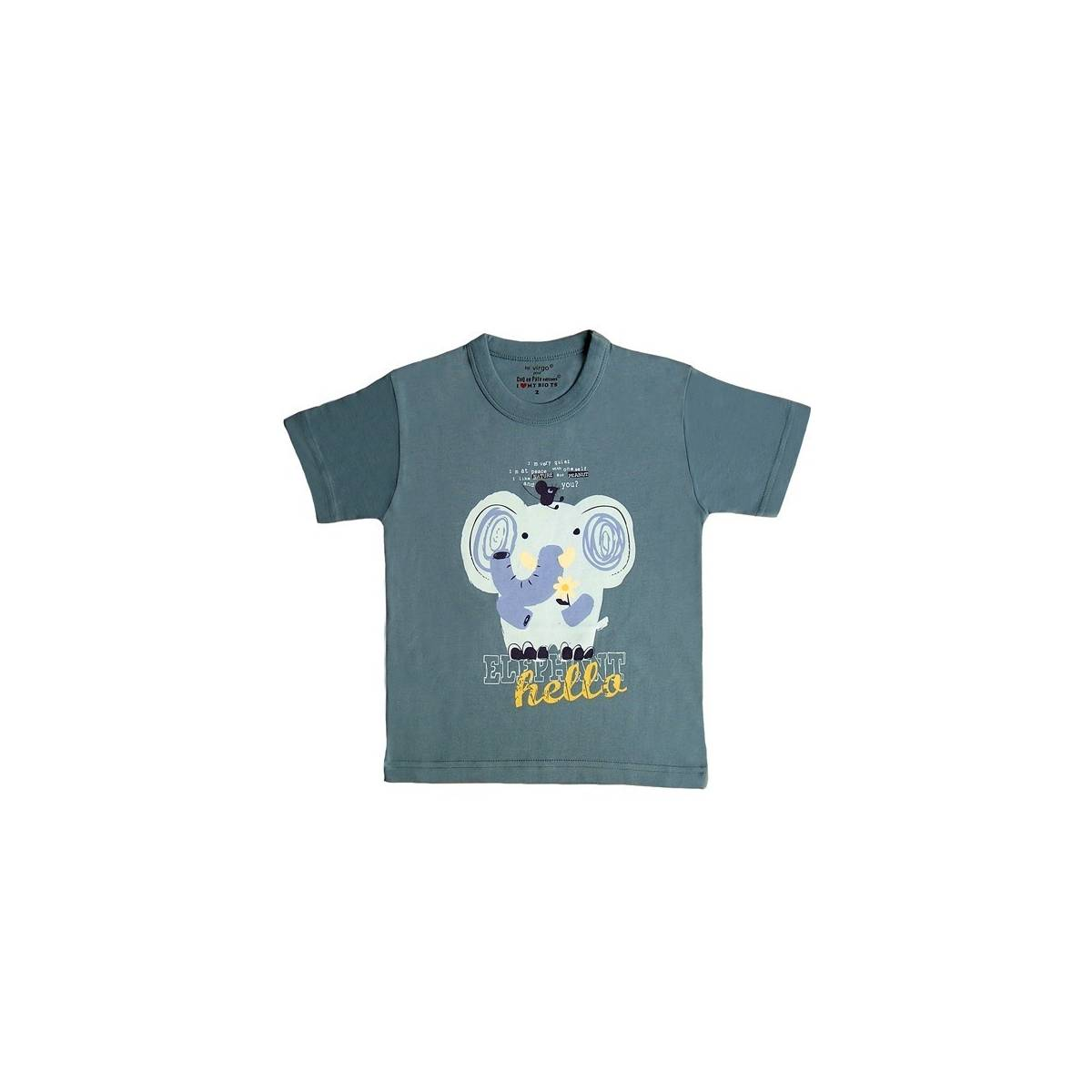 Blue-grey elephant t-shirt