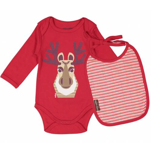 Caribou long sleeves body and bib set