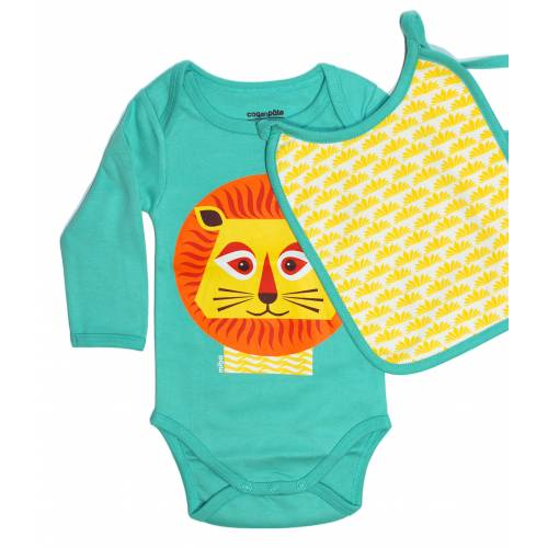Lion long sleeves body and bib set