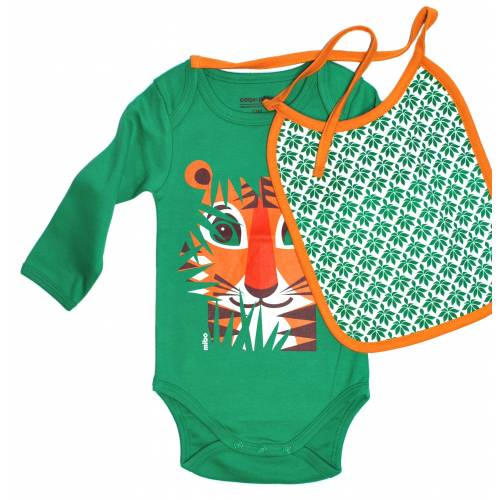 Tiger long sleeves body and bib set