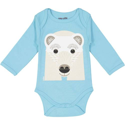 Polar bear long sleeves body and bib set