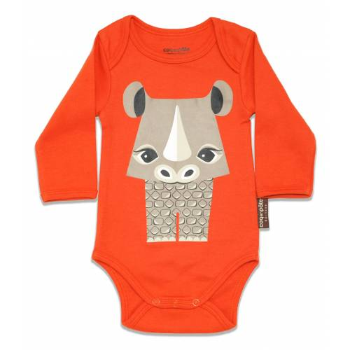 Rhinoceros long sleeves body and bib set