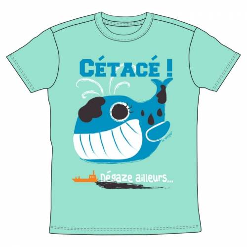 T-shirt cétacé by Virgo