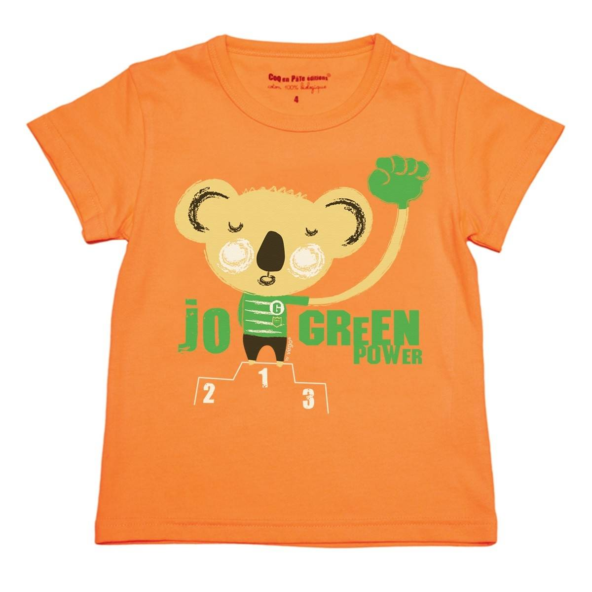 Orange koala t-shirt by Virgo