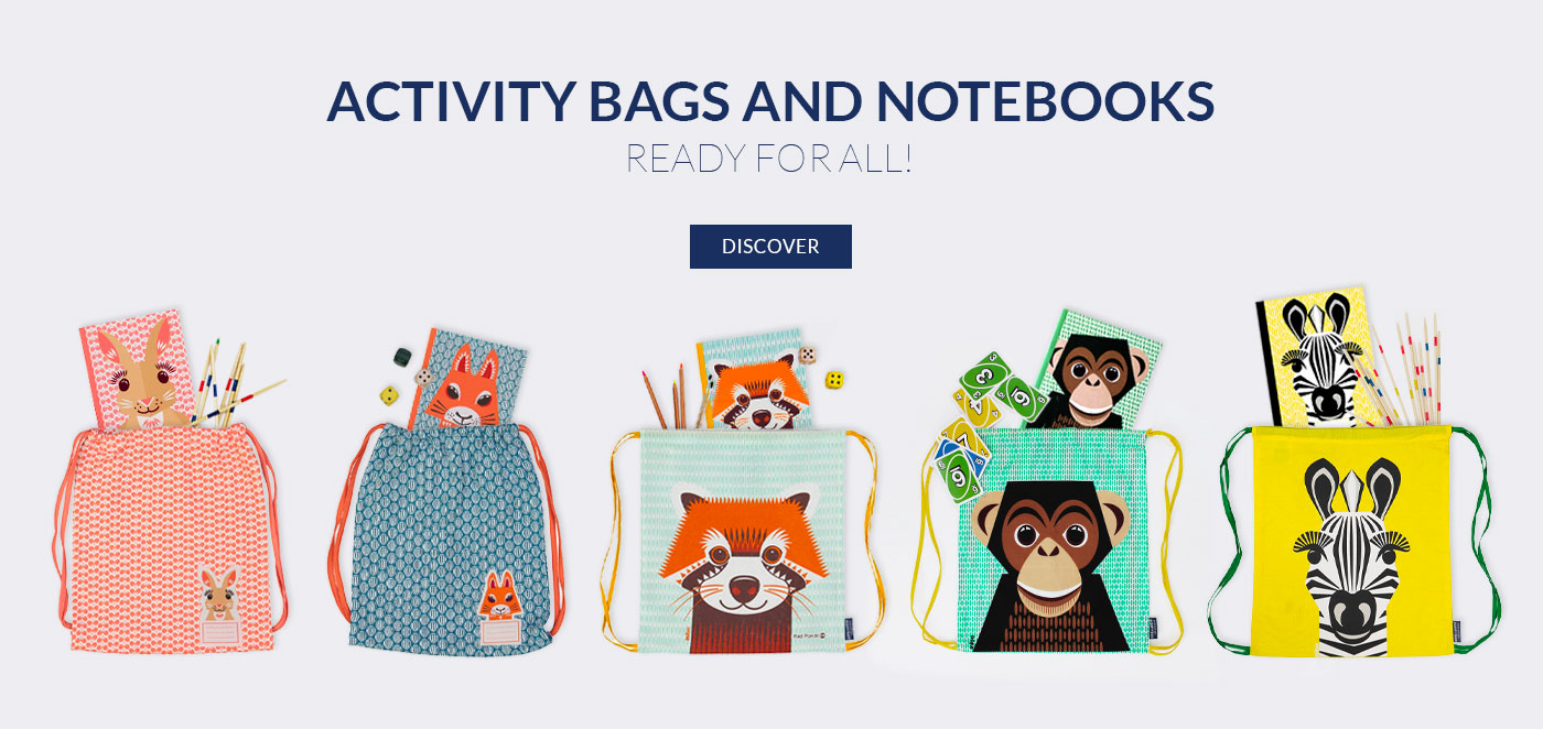 Activity bags and notebooks